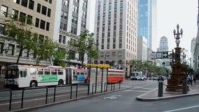 Lotta fountain in San Francisco, USA, stock footage