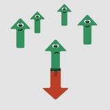Lotta su e giù le frecce, illustrazione di vettore Fotografie Stock Libere da Diritti