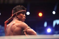 LOTTA TAILANDESE 2012, giro finale fotografia stock libera da diritti