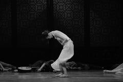 Lottando con il terzo atto di dolore- degli eventi di dramma-Shawan di ballo del passato Fotografia Stock