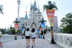 Lotte世界amusment公园在韩国 免版税库存图片