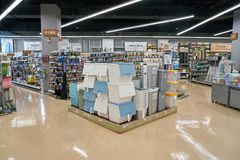 Lotte Mart. BUSAN, SOUTH KOREA - MAY 25, 2017: inside a Lotte Mart in Busan. Lotte Mart is an east Asian hypermarket that sells a variety of groceries, clothing Stock Photos
