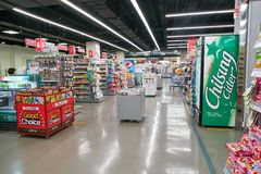 Lotte Mart. BUSAN, SOUTH KOREA - MAY 25, 2017: inside a Lotte Mart in Busan. Lotte Mart is an east Asian hypermarket that sells a variety of groceries, clothing Royalty Free Stock Photography