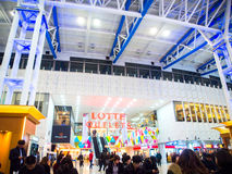 Lotte Outlets mall in Seoul Station, Korea. Stock Image
