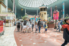 Lotte World, a famous amusement theme park at Seoul. Royalty Free Stock Photo