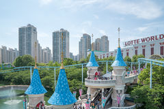 Lotte World, a famous amusement theme park at Seoul. Royalty Free Stock Image