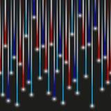 Lotten av enkel färgrik ljuslaser gör randig den skinande designen eps10 stock illustrationer