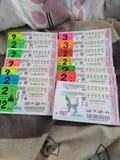 Lotteria della Tailandia fotografie stock