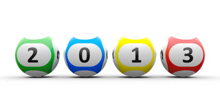 Lotteribollar 2013 Arkivfoton