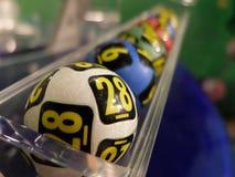 Lotteribollar under extraktion Royaltyfri Bild