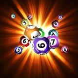 Lotterie-Bälle Stockfotos
