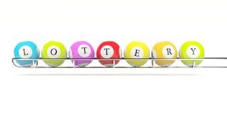 Lotterie-Bälle Lizenzfreies Stockbild