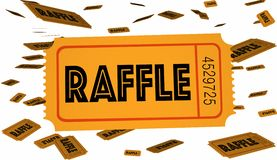 Lotterie etikettiert Wettbewerb stock abbildung