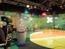 Lotterie Fernsehstudio Lizenzfreies Stockfoto