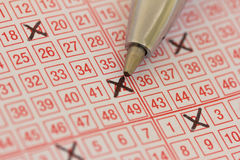 Lotterie-Karte Stockfotos