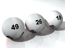 Lotterie-Kugeln Stockbild