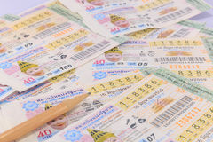 Lotterie Thailand Lizenzfreie Stockfotografie