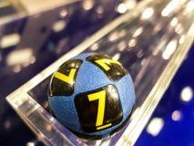 Lotteriebälle während der Extraktion Stockfoto
