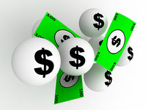 Lotteriegewinn Stockfoto