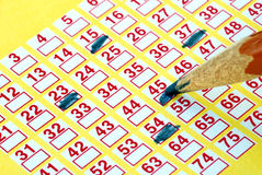 Lotteriekarte Lizenzfreie Stockbilder