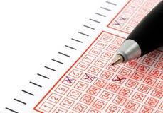 Lotteriekarte Lizenzfreie Stockfotografie