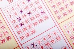 Lotteriekarte stockbilder