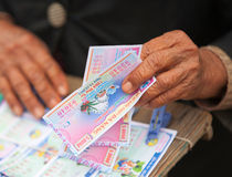 Lotteriekarten Stockbild