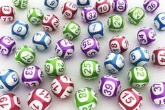 Lotteriekugeln Stockbild