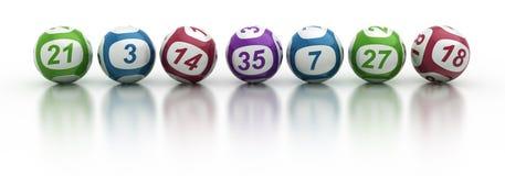 Lotteriekugeln Lizenzfreies Stockfoto
