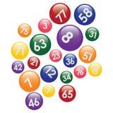 Lotteriekugeln mit Zahlen. Lizenzfreie Stockbilder