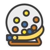 Lotterit klumpa ihop sig illustrationsymbolen Arkivbild