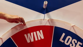 lottery Στάσεις ροδών ρουλετών Lose απόθεμα βίντεο