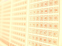 Lottery. Number Royalty Free Stock Photo