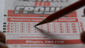 lottery απόθεμα βίντεο
