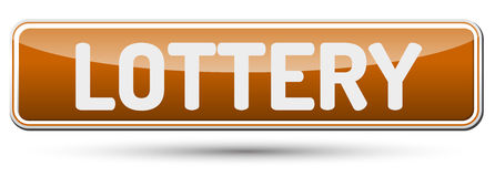 LOTTERY - Abstract beautiful button with text. Royalty Free Stock Images