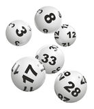 Lottery. Abstract illustration of dynamically falling lottery balls royalty free stock images