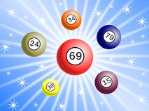 Lottery background Royalty Free Stock Photography