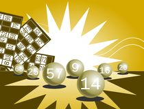 Lottery background Stock Photo