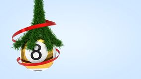 Lottery ball with pine branch. 3d illustration. Suitable for christmas themes Stock Photography
