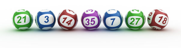 Lottery balls Stock Images