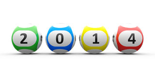 Lottery balls 2014 Stock Photos