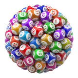 Lottery Balls Royalty Free Stock Photography