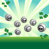 Lottery balls Stock Photos