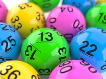 Lottery balls on close view Stock Images
