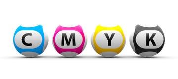 Lottery balls CMYK Royalty Free Stock Image