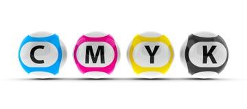 Lottery balls CMYK  2 Royalty Free Stock Photos