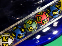 Lottery balls during extraction Royalty Free Stock Image