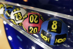 Lottery balls during extraction Stock Image
