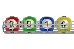 Lottery balls 2016 frame. On white background Royalty Free Stock Images