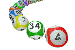 Lottery balls. Isolated on black background stock illustration